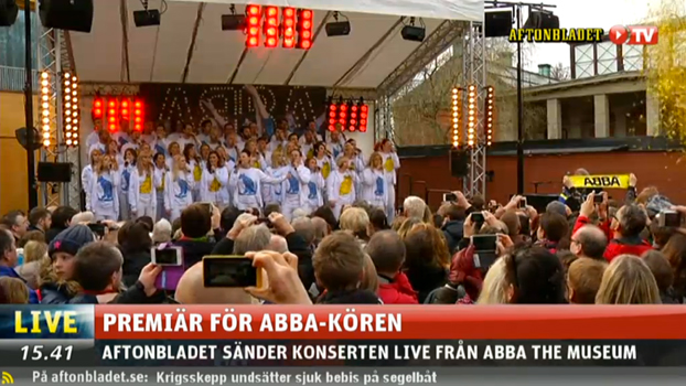 ABBA the Museum choir performance, April 6, 2014