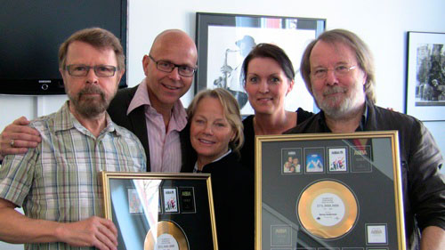 Björn and Benny receive gold records