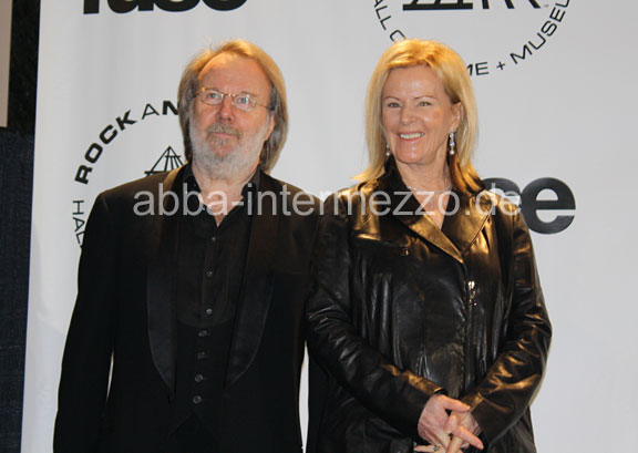 Benny and Frida at the Rock and Roll Hall of Fame Ceremony
