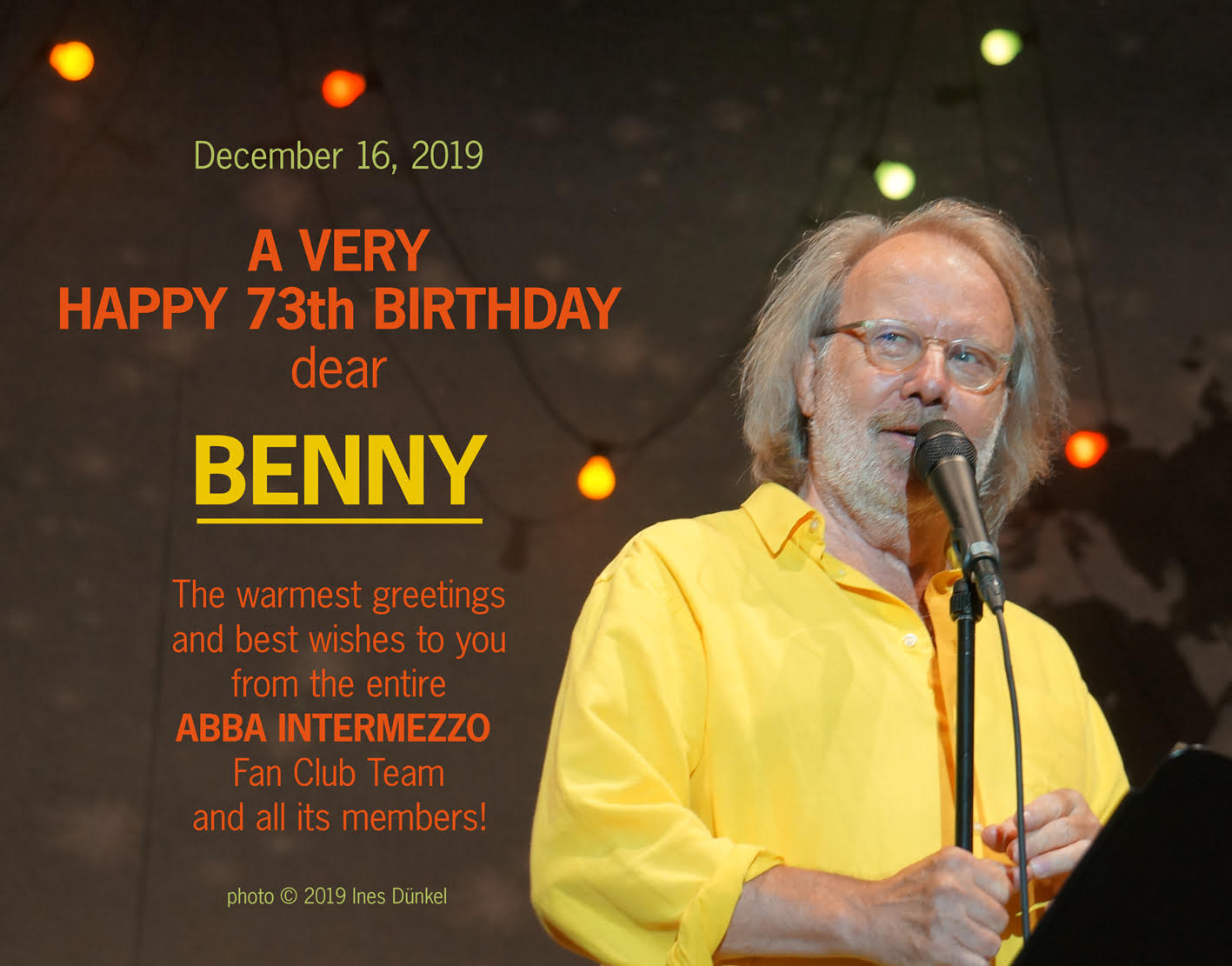 Benny's birthday