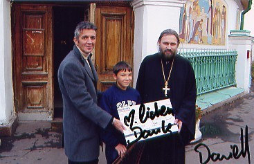 Dan Daniell with Father Nicolay