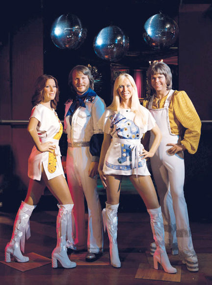 ABBA at the London wax museum