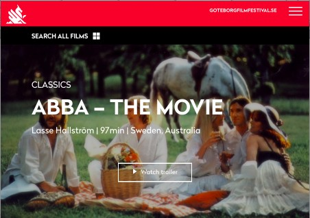 ABBA - The Movie at the Göteborg International Film Festival