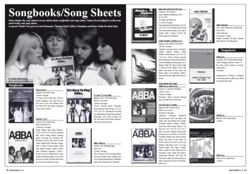 Songbooks/Song Sheets article