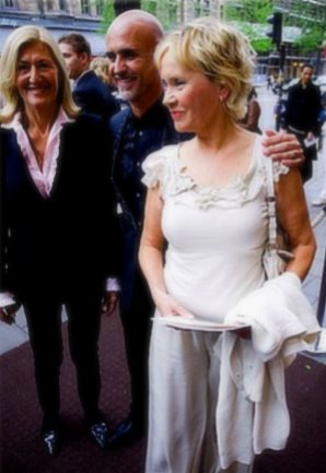 Lolo Murray, Michael Bindefeld und Agnetha in Stockholm, 6. Mai