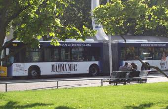 Mamma Mia! bus in Stuttgart