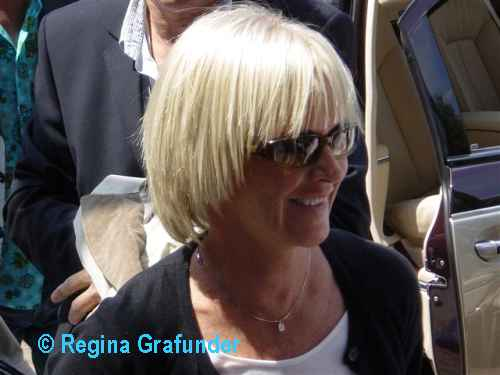 Frida arriving in Stuttgart in front of the hotel - © Regina Grafunder