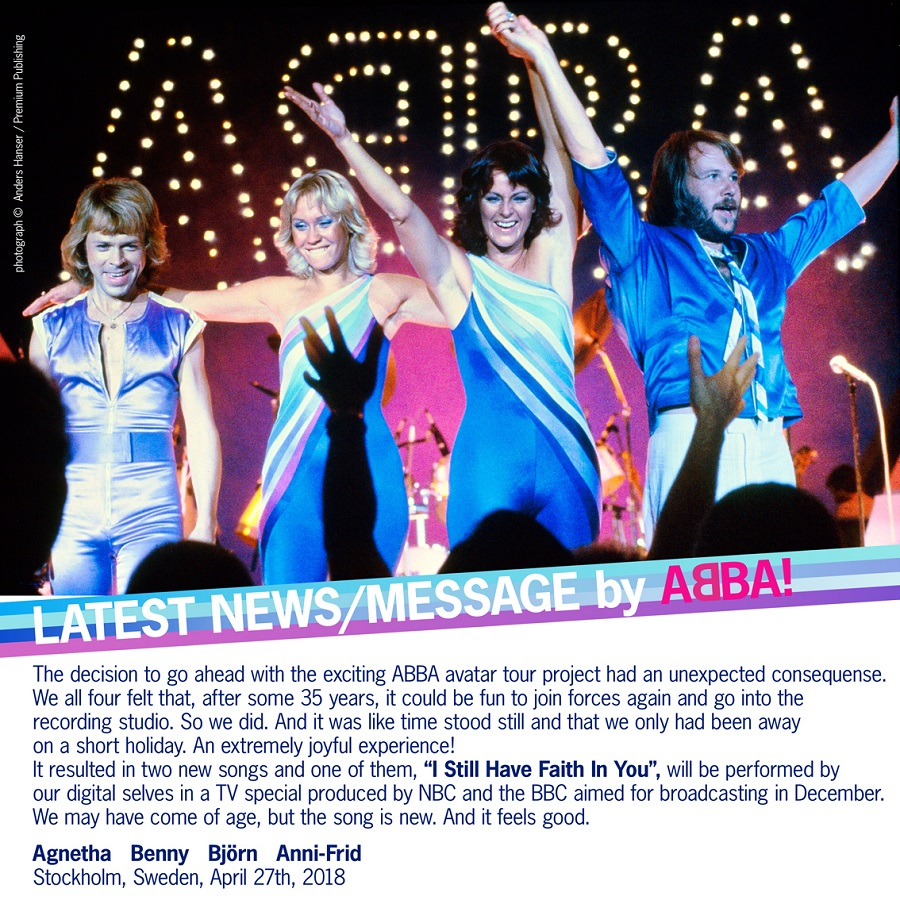 Two new ABBA songs in December!!!