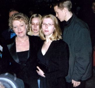Björn's wife Lena, Emma and Christian Ulvaeus