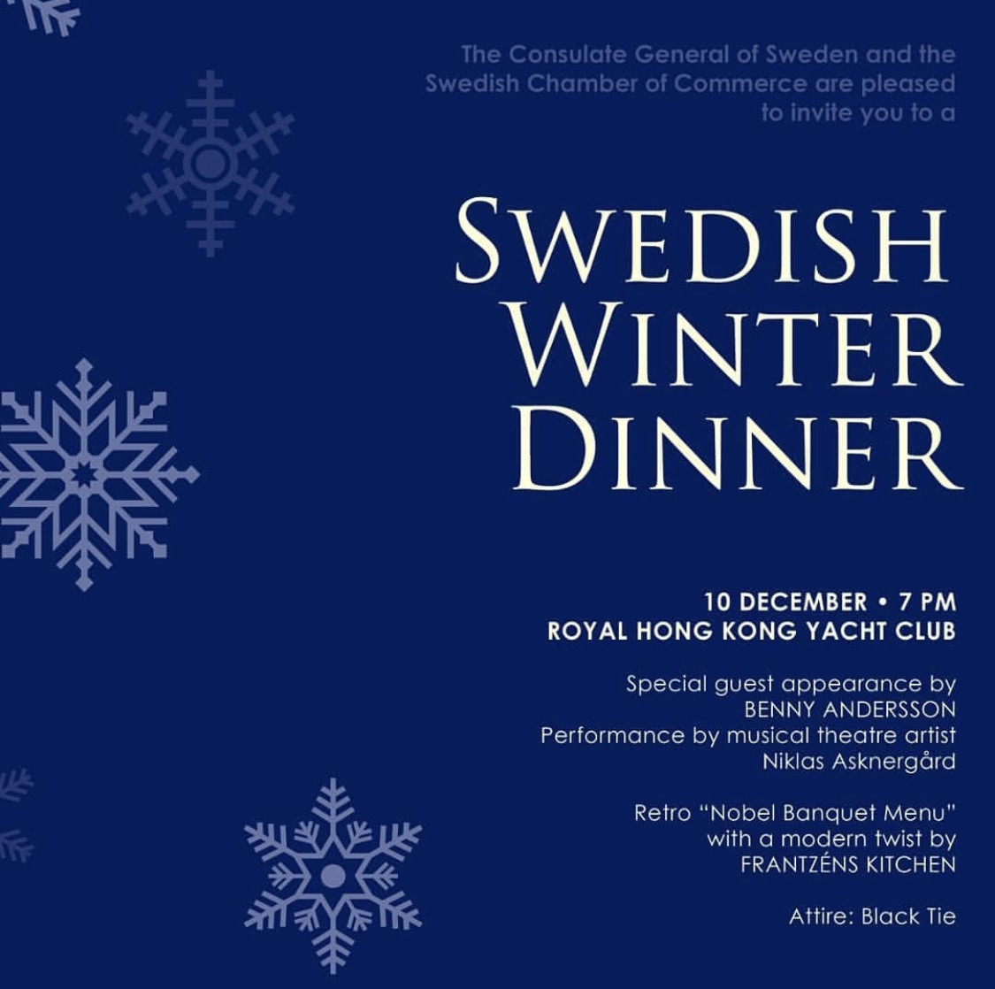 Swedish Winter Dinner in Hongkong